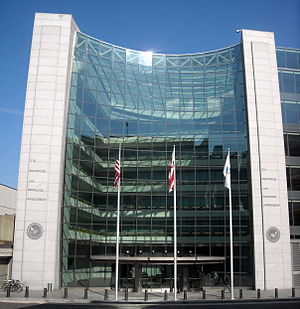 Stock trader - U.S. Securities and Exchange Commission headquarters in Washington, D.C.