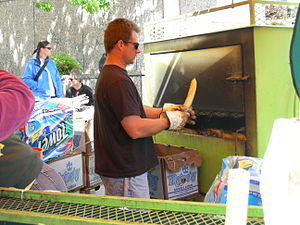 Corn roaster - A corn roaster being used at a street fair in Seattle, Washington