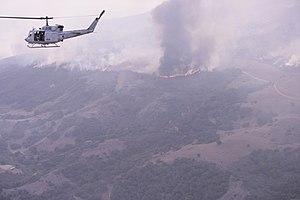 HMLAT-303 - A UH-1N from HMLAT-303 flies California Representative Bill Brady during the October 2007 California wildfires.
