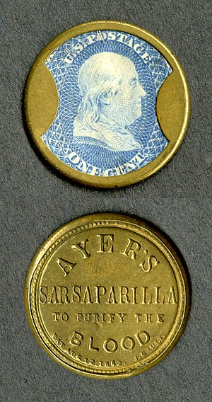 John Gault - Encased postage stamp