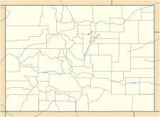 Map showing the location of Saint Mary's Glacier
