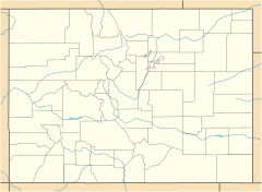 Map showing the location of Cherry Creek State Park