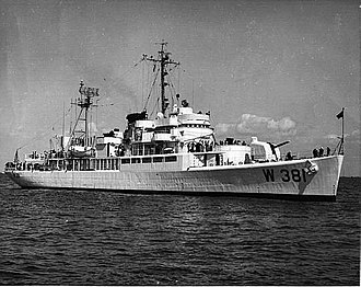 USS Barataria (AVP-33) - Image: USCGC Barataria (WAVP 381)