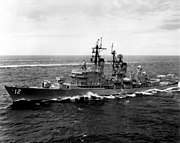USS Dahlgren (DLG-12) underway off Oahu 1967