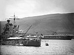 USS Idaho (BB-42) and the USS Wasp (CV-7) anchored at Hvalfjord, Iceland in October 1941.jpg