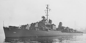 USS McKean (DD-784) off Seattle on 14 June 1945 (19-N-85151)