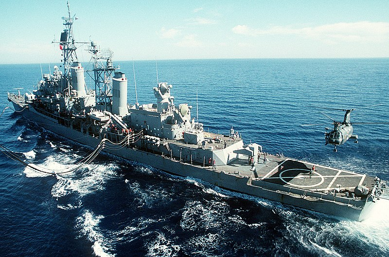 USS William V. Pratt, conducting missions for UN trade sanctions against Iraq after Operation Desert Storm