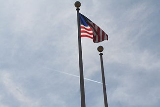 US Flag on flagpole