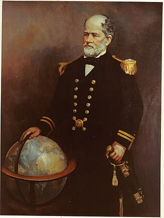 Ella Sophonisba Hergesheimer - Portrait of Matthew Fontaine Maury, hanging in Maury Hall at the United States Naval Academy. Donated to the Academy in 1923