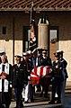 US Navy 040611-N-5362A-009 Ceremonial Honor Guardsmen escort the flag draped casket of former President Ronald Reagan.jpg