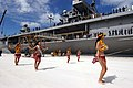 US Navy 041110-N-1693W-002 Polynesian dancers greet the officers and crew of USS Blue Ridge (LCC 19) to the tropical island of Saipan.jpg