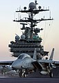 US Navy 041204-N-5345W-266 An F-14B Tomcat is put in tension on the catapult prior to launching from the flight deck aboard the Nimitz-class aircraft carrier USS Harry S. Truman (CVN 75).jpg