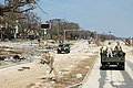 US Navy 050907-N-0000X-001 U.S. Navy Seabees observe first hand the devastation from Hurricane Katrina as they travel along Route 90 in Gulfport, Miss.jpg