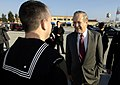 US Navy 060211-N-0696M-371 Secretary of Defense (SECDEF) the Honorable Donald H. Rumsfeld, visits U.S. Navy Sailors at Naval Air Station Sigonella, Sicily.jpg
