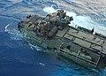 US Navy 070410-N-4124C-023 An Amphibious Assault Vehicles (AAV) from the 31st Marine Expeditionary Unit (MEU) leaves the well deck of the amphibious transport dock ship USS Juneau (LPD 10).jpg
