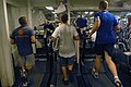 US Navy 071204-N-4133B-091 Sailors run on treadmills in the main gym aboard the Nimitz-class nuclear-powered aircraft carrier USS Ronald Reagan (CVN 76) as part of maintain a healthy lifestyle month.jpg