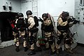 US Navy 090307-N-9610C-045 A visit, board, search, and seizure team from USS Kidd (DDG 100) participates in close quarters battle tactics.jpg