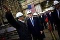 US Navy 090615-N-5549O-038 Secretary of the Navy (SECNAV) the Honorable Ray Mabus takes a tour of shipbuilding facilities at Bath Iron Works Naval Shipyard.jpg