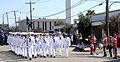 US Navy 091107-N-4981W-090 Stephanie M. Jones, commanding officer of Naval Construction Training Center (NCTC) Gulfport leads Sailors in the 9th annual Mississippi Gulf Coast Veterans Parade.jpg
