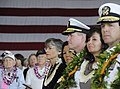 US Navy 091207-N-7498L-146 Hawaii Governor Linda Lingle joins Adm. Patrick Walsh, commander of U.S. Pacific Fleet, and Rear Adm. Dixon Smith, commander of Navy Region Hawaii, at a U.S. Navy and National Park Service ceremony.jpg