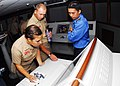 US Navy 100609-N-0995C-019 U.S. and Royal Malaysian Navy Sailors train on a bridge team simulator during Cooperation Afloat Readiness and Training (CARAT) Malaysia 2010.jpg