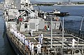 US Navy 101130-N-7498L-012 Sailors assigned to the guided-missile destroyer USS Paul Hamilton (DDG 60) man the rails as the ship departs Joint Base.jpg