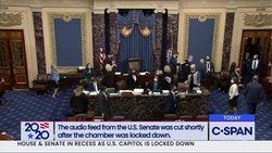 Fil:US Senate goes into recess after protestors breach the Capitol.webm