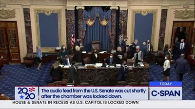 Файл:US Senate goes into recess after protestors breach the Capitol.webm