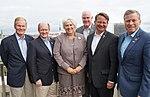 US Senator Bill Nelson, Senator Christopher A. Coons, FM Marina Kaljurand, Congressman Pat Meehan, Senator Gary Peters and Congressman Charlie Dent (28775927000).jpg