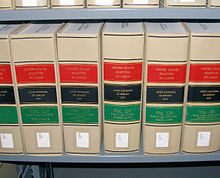Photograph of volumes of the United States Statutes at Large.