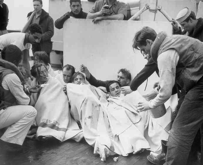 Uboat sinking survivors