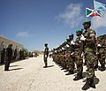 Ugandan AMISOM Guard of Honour for Burundi Defence Minister (6242979881).jpg