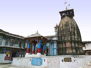 Kedarnath - Ukhimath Temple, near Kedarnath, where the Kedarnath deity as well as the Madhmaheshwar deity are kept during the winter months.