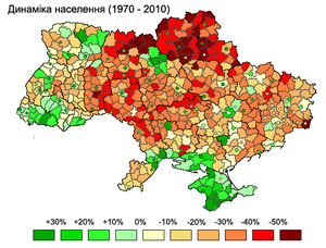 Demographics of Ukraine - Population change, 1970–2010