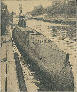 Royal Danish Navy - The Danish submarine Havmanden circa World War I