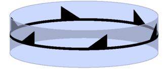 Cyclic symmetry in three dimensions - Image: Uniaxial c 6