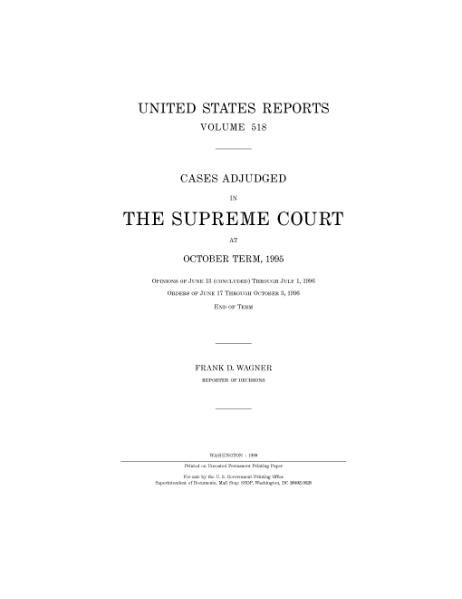 File:United States Reports, Volume 518.djvu