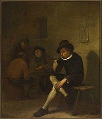 Palacz fajki w szynku