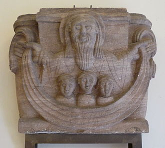 Bosom of Abraham - The Bosom of Abraham, Romanesque capital from the former Priory of Alspach, Alsace. (Unterlinden Museum, Colmar)