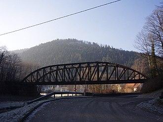 Johann Wilhelm Schwedler - Bridge at Unterreichenbach on the Nagold Valley Railway, one of the last remaining Schwedler truss bridges
