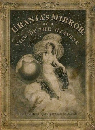 Urania's Mirror - The box lid, depicting the muse of astronomy, Urania.