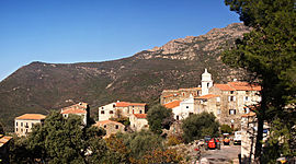 A panorama of the village of Urtaca
