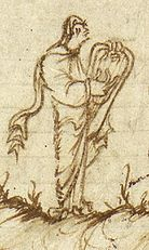 Utrecht Psalter image of cithara or lyre