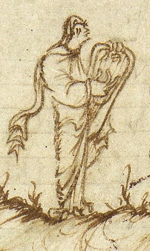Cithara - Utrecht Psalter image of cithara or lyre. Image drawn by an  Anglo-Saxon artist in Reims.