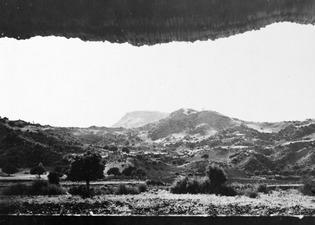 Utsikt mot Vouni från tältet Mersinaki. Galini - SMVK - C02790.tif