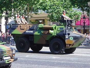 A French VAB, one of the most common wheeled APCs