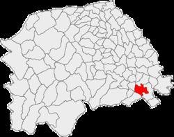 Vị trí của Vadu Moldovei