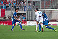 Valais Cup 2013 - OM-FC Porto 13-07-2013 - Josué, Morgan Amalfitano et Eliaquim Mangala.jpg