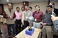 Van de Graaff Generator Experimentation - Indo-Finnish-Thai Exhibit Development Workshop - NCSM - Kolkata 2014-11-27 9744.JPG