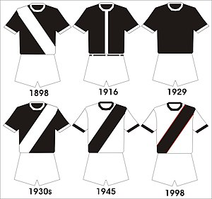 CR Vasco da Gama - Vasco da Gama's kit evolution